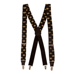 Mizzou Oval Tiger Head Black Suspenders