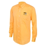 Mizzou Antigua Tiger Head Gold Dress Shirt