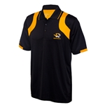 Mizzou Antigua Tiger Head Black With Gold Insets Polo