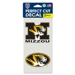 Decal 2-Pack M Tiger Head/Oval Tiger Head