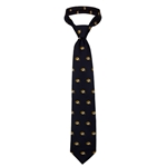 Mizzou Oval Tiger Head Black Tie