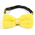 Pre-Tied Knit Yellow Bow Tie