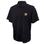 Mizzou Cutter & Buck Oval Tiger Head Black DryTec Polo