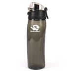 Mizzou Tiger Head Rotating Meter Charcoal Water Bottle