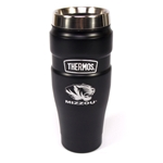 Mizzou Tiger Head Thermos Matte Black Travel Tumbler