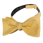Polka Dot Gold Adjustable Self-Tie Bow Tie