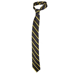 Mizzou Charcoal & Yellow Diagonal Striped Tie