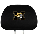Mizzou Tiger Head Black Head Rest Cover Set of 2