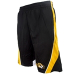 Mizzou Oval Tiger Head Mesh Insets Matte Black Athletic Shorts