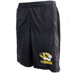 Mizzou Under Armour Tiger Head Loose Black Athletic Shorts