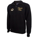 Mizzou Mom JanSport Women's Tiger Head Black 1/4 Zip Sweatshirt