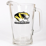 Missouri Tiger Head Glass Pitcher