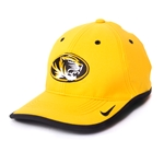 Mizzou Nike Oval Tiger Head Coaches Performance Gold Adjustable Hat