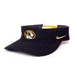 Mizzou Nike Oval Tiger Head Dri-Fit Black Visor