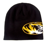 Mizzou Nike Oval Tiger Head Reversible Black & Gold Beanie
