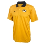 Mizzou Nike 2014 Oval Tiger Head Dri-Fit Gold Polo
