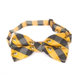 Mizzou Tiger Head Black & Gold Bow Tie