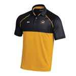 Mizzou Under Armour Tiger Head Black & Gold Polo