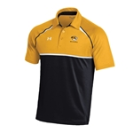 Mizzou Under Armour Tiger Head Gold & Black Polo
