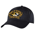Mizzou Tigers SEC Black Adjustable Hat