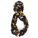Mizzou Tiger Head Black Infinity Scarf