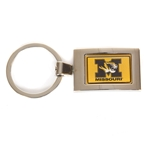Missouri Tiger Head Gold & Silver Rectangular Keychain