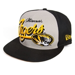 Missouri Tigers Black Flat Bill Snapback