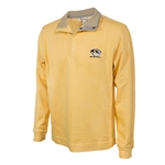 Mizzou Cutter & Buck Tiger Head Gold 1/4 Zip Sweater