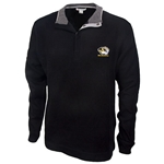 Mizzou Cutter & Buck Tiger Head Black 1/4 Zip Sweater
