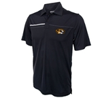 Mizzou Ping Oval Tiger Head Black Polo