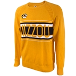 Mizzou Tiger Head Gold Crew Neck Sweater