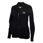 Mizzou Cutter & Buck Women's Tiger Head Black Full Zip Sweatshirt