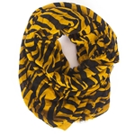 Mizzou Tiger Stripe Black & Gold Infinity Scarf
