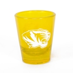 Mizzou Tiger Head Gold Shot Glass