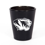 Mizzou Tiger Head Black Shot Glass