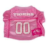 Mizzou Tigers Hot Pink Mesh Football Dog Jersey