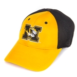Mizzou Tiger Head SEC Black & Gold Stretch-Fit Hat