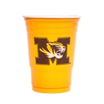 Mizzou Tiger Head Gold Party Cups Set of 24