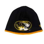 Mizzou New Era Oval Tiger Head Outline Black Beanie