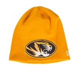 Mizzou New Era Oval Tiger Head Gold Beanie