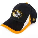 Mizzou New Era Oval Tiger Head Black Mesh Stretch-Fit Hat