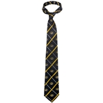Mizzou Oval Tiger Head Black & Gold Window Pane Tie