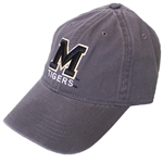 Mizzou Block M Charcoal Hat