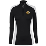 Mizzou Women's Tiger Head Black & White 1/4 Zip Jacket