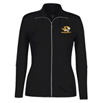 Mizzou Women's Tiger Head Black Full Zip Jacket