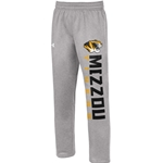 Mizzou Tigers Under Armour Grey Open Bottom Sweatpants