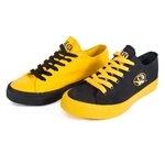 Mizzou Oval Tiger Head Black & Gold Mismatched Sneakers