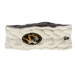Mizzou New Era Oval Tiger Head Knit White Headband