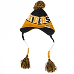 Mizzou Tigers New Era Black & Gold Beanie with Pom & Tassels