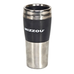 Mizzou Black Stainless Steel Travel Mug